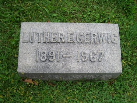 GERWIG, LUTHER E - Baltimore County, Maryland | LUTHER E GERWIG - Maryland Gravestone Photos