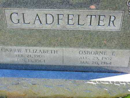 GLADFELTER, CARRIE EIZABETH - Baltimore County, Maryland   CARRIE EIZABETH GLADFELTER - Maryland Gravestone Photos