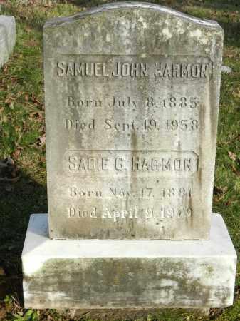 HARMON, SADIE G - Baltimore County, Maryland   SADIE G HARMON - Maryland Gravestone Photos