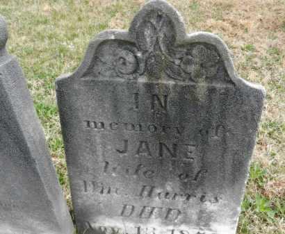 HARRIS, JANE - Baltimore County, Maryland | JANE HARRIS - Maryland Gravestone Photos
