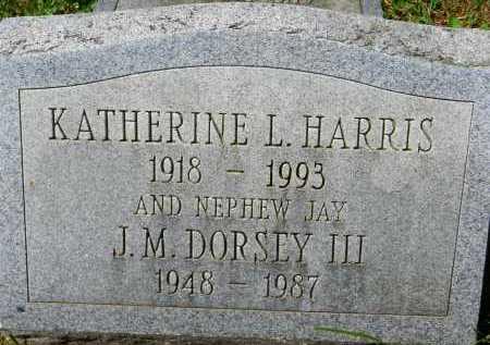 HARRIS, KATHERINE L. - Baltimore County, Maryland | KATHERINE L. HARRIS - Maryland Gravestone Photos