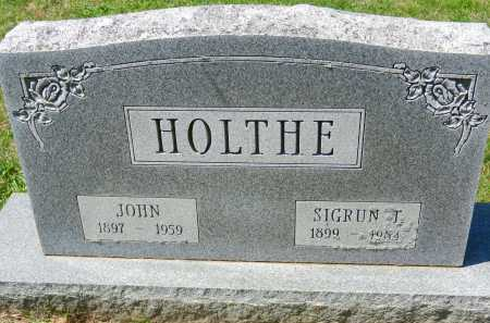 HOLTHE, SIGRUN T. - Baltimore County, Maryland | SIGRUN T. HOLTHE - Maryland Gravestone Photos