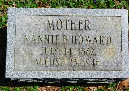 HOWARD, NANNIE B. - Baltimore County, Maryland | NANNIE B. HOWARD - Maryland Gravestone Photos