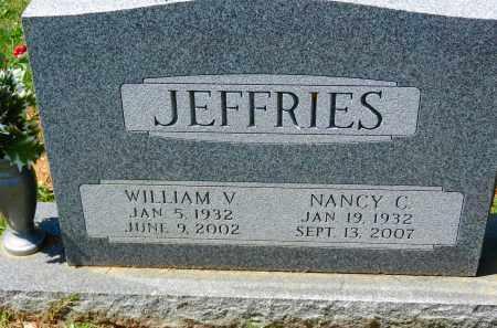 JEFFRIES, WILLIAM V. - Baltimore County, Maryland | WILLIAM V. JEFFRIES - Maryland Gravestone Photos