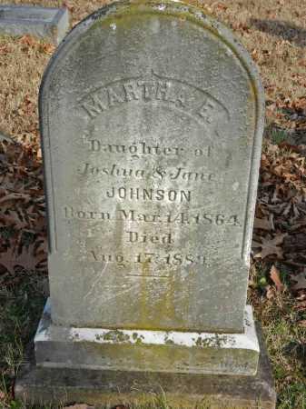 JOHNSON, MARTHA E - Baltimore County, Maryland | MARTHA E JOHNSON - Maryland Gravestone Photos