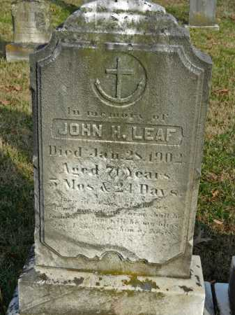 LEAF, JOHN H - Baltimore County, Maryland | JOHN H LEAF - Maryland Gravestone Photos