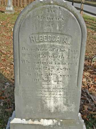 LEE, REBECCA A - Baltimore County, Maryland | REBECCA A LEE - Maryland Gravestone Photos
