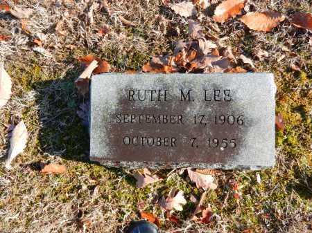 LEE, RUTH M - Baltimore County, Maryland | RUTH M LEE - Maryland Gravestone Photos