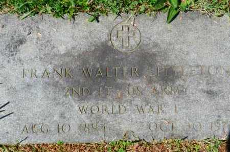 LITTLETON, FRANK WALTER - Baltimore County, Maryland | FRANK WALTER LITTLETON - Maryland Gravestone Photos