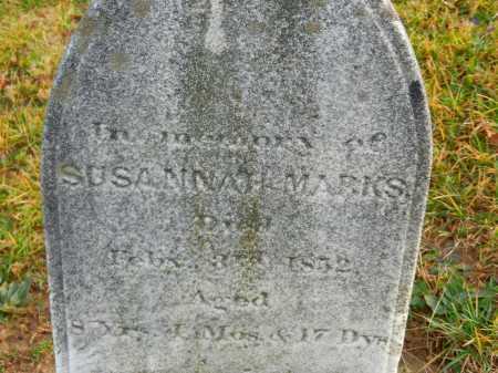 MARKS, SUSANNAH - Baltimore County, Maryland | SUSANNAH MARKS - Maryland Gravestone Photos