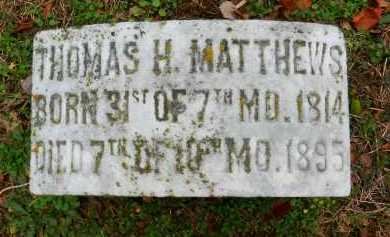 MATTHEWS, THOMAS H - Baltimore County, Maryland | THOMAS H MATTHEWS - Maryland Gravestone Photos