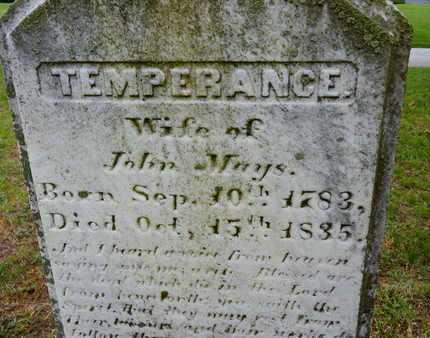 MAYS, TEMPERANCE - Baltimore County, Maryland | TEMPERANCE MAYS - Maryland Gravestone Photos