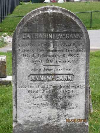 MCGANN, CATHARINE - Baltimore County, Maryland | CATHARINE MCGANN - Maryland Gravestone Photos