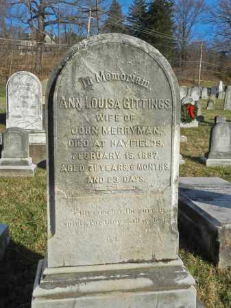 MERRYMAN, ANN LOUISA - Baltimore County, Maryland | ANN LOUISA MERRYMAN - Maryland Gravestone Photos
