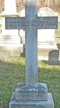 MERRYMAN, ELIJAH GITTINGS - Baltimore County, Maryland | ELIJAH GITTINGS MERRYMAN - Maryland Gravestone Photos
