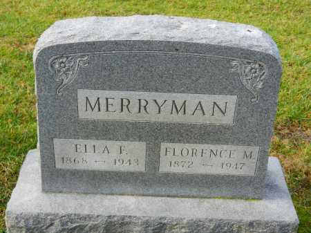 MERRYMAN, FLORENCE M. - Baltimore County, Maryland | FLORENCE M. MERRYMAN - Maryland Gravestone Photos