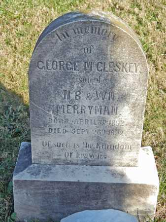 MERRYMAN, GEORGE MCCLESKEY - Baltimore County, Maryland | GEORGE MCCLESKEY MERRYMAN - Maryland Gravestone Photos