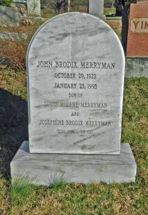 MERRYMAN, JOHN BRODIX - Baltimore County, Maryland | JOHN BRODIX MERRYMAN - Maryland Gravestone Photos
