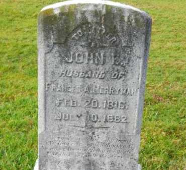 MERRYMAN, JOHN E. - Baltimore County, Maryland | JOHN E. MERRYMAN - Maryland Gravestone Photos