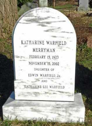 MERRYMAN, KATHARINE - Baltimore County, Maryland   KATHARINE MERRYMAN - Maryland Gravestone Photos