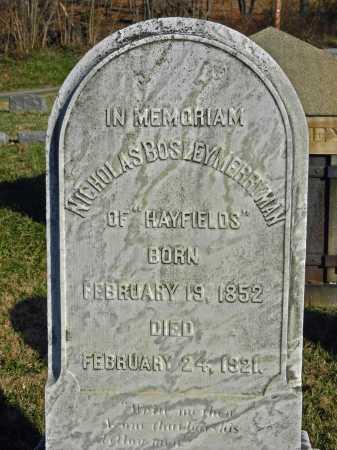 MERRYMAN, NICHOLAS BOSLEY - Baltimore County, Maryland   NICHOLAS BOSLEY MERRYMAN - Maryland Gravestone Photos