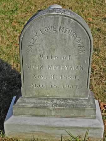 MERRYMAN, SALLY - Baltimore County, Maryland | SALLY MERRYMAN - Maryland Gravestone Photos