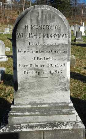 MERRYMAN, WILLIAM D. - Baltimore County, Maryland   WILLIAM D. MERRYMAN - Maryland Gravestone Photos