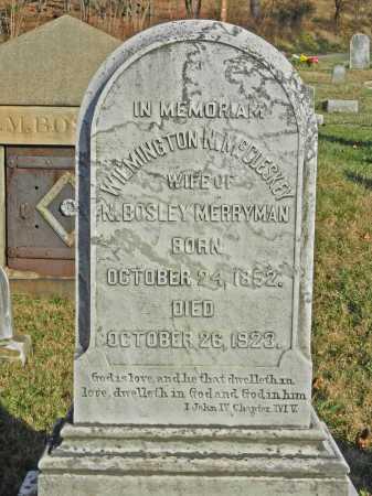 MERRYMAN, WILMINGTON N. - Baltimore County, Maryland   WILMINGTON N. MERRYMAN - Maryland Gravestone Photos