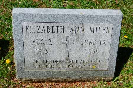 MILES, ELIZABETH ANN - Baltimore County, Maryland | ELIZABETH ANN MILES - Maryland Gravestone Photos
