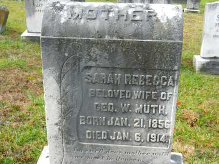 MUTH, SARAH REBECCA - Baltimore County, Maryland | SARAH REBECCA MUTH - Maryland Gravestone Photos