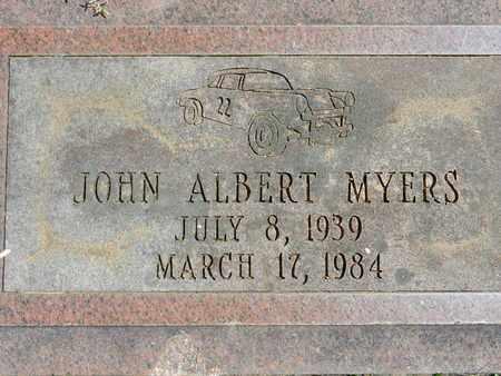 MYERS, JOHN ALBERT - Baltimore County, Maryland | JOHN ALBERT MYERS - Maryland Gravestone Photos