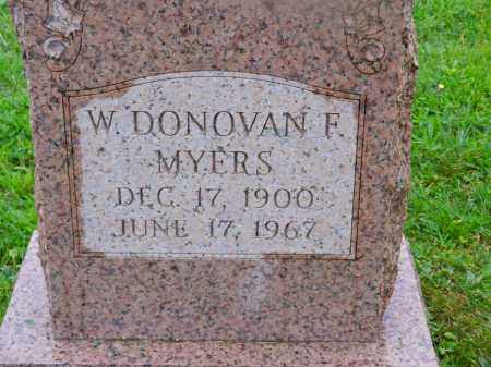 MYERS, W. DONOVAN F. - Baltimore County, Maryland   W. DONOVAN F. MYERS - Maryland Gravestone Photos
