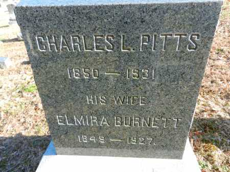 PITTS, CHARLES L - Baltimore County, Maryland | CHARLES L PITTS - Maryland Gravestone Photos