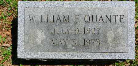 QUANTE, WILLIAM F. - Baltimore County, Maryland | WILLIAM F. QUANTE - Maryland Gravestone Photos
