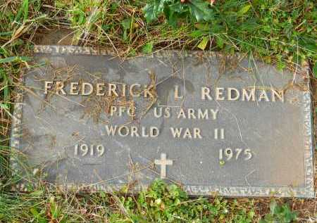 REDMAN, FREDERICK L. - Baltimore County, Maryland | FREDERICK L. REDMAN - Maryland Gravestone Photos