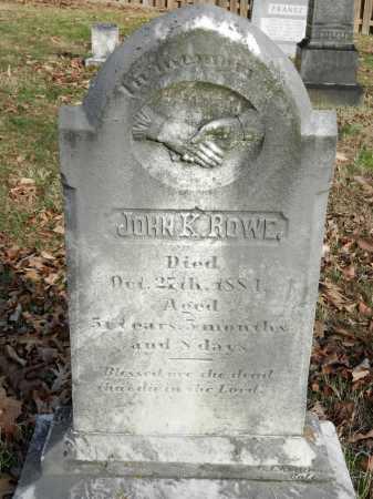 ROWE, JOHN K - Baltimore County, Maryland   JOHN K ROWE - Maryland Gravestone Photos