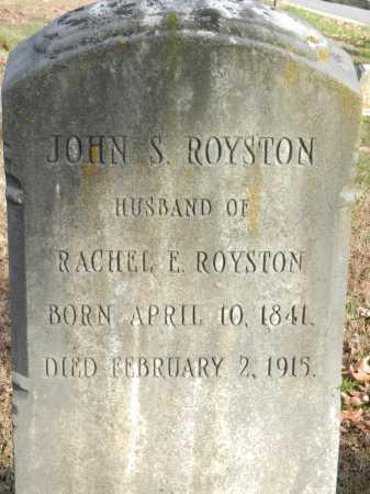 ROYSTON, JOHN S - Baltimore County, Maryland | JOHN S ROYSTON - Maryland Gravestone Photos