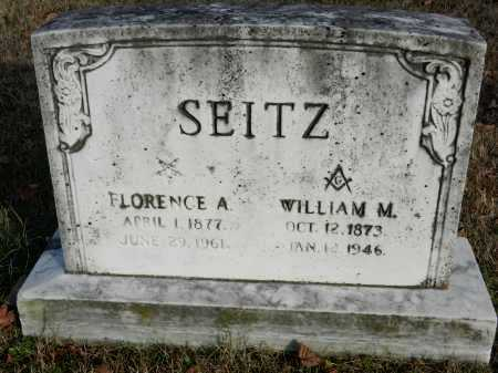 SEITZ, WILLIAM M - Baltimore County, Maryland | WILLIAM M SEITZ - Maryland Gravestone Photos