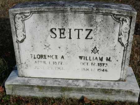 SEITZ, FLORENCE A - Baltimore County, Maryland | FLORENCE A SEITZ - Maryland Gravestone Photos