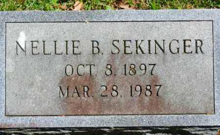 SEKINGER, NELLIE B. - Baltimore County, Maryland | NELLIE B. SEKINGER - Maryland Gravestone Photos