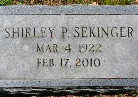 SEKINGER, SHIRLEY P. - Baltimore County, Maryland   SHIRLEY P. SEKINGER - Maryland Gravestone Photos