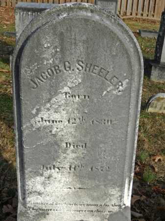 SHEELER, JACOB G - Baltimore County, Maryland | JACOB G SHEELER - Maryland Gravestone Photos