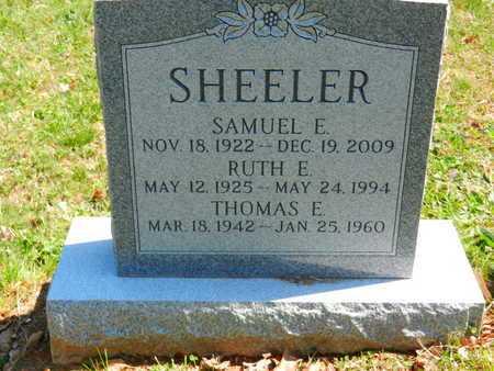 SHEELER, SAMUEL E. - Baltimore County, Maryland | SAMUEL E. SHEELER - Maryland Gravestone Photos