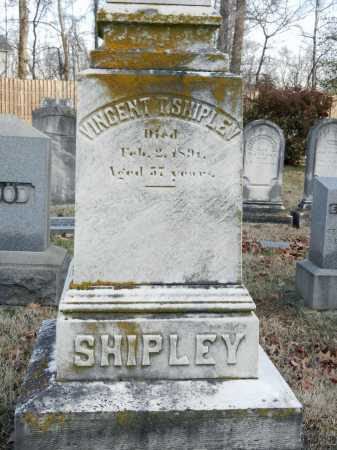 SHIPLEY, VINCENT T - Baltimore County, Maryland | VINCENT T SHIPLEY - Maryland Gravestone Photos