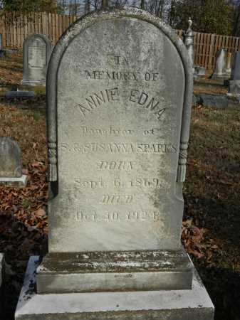 SPARKS, ANNIE EDNA - Baltimore County, Maryland   ANNIE EDNA SPARKS - Maryland Gravestone Photos