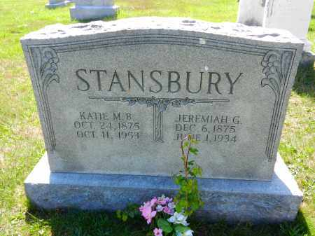 STANSBURY, JEREMIAH B. - Baltimore County, Maryland | JEREMIAH B. STANSBURY - Maryland Gravestone Photos