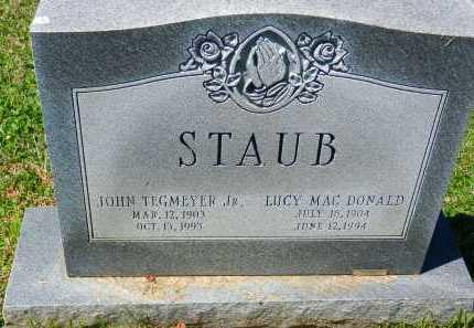 MAC DONALD STAUB, LUCY - Baltimore County, Maryland | LUCY MAC DONALD STAUB - Maryland Gravestone Photos