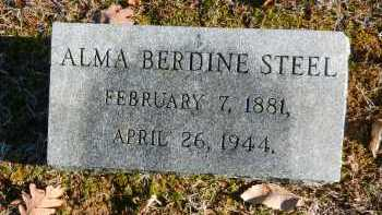 STEEL, ALMA BERDINE - Baltimore County, Maryland | ALMA BERDINE STEEL - Maryland Gravestone Photos
