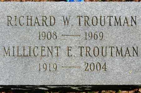 TROUTMAN, RICHARD W. - Baltimore County, Maryland | RICHARD W. TROUTMAN - Maryland Gravestone Photos