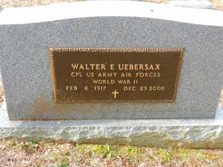 UEBERSAX, WALTER E. - Baltimore County, Maryland | WALTER E. UEBERSAX - Maryland Gravestone Photos